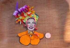 carmen miranda flower hat
