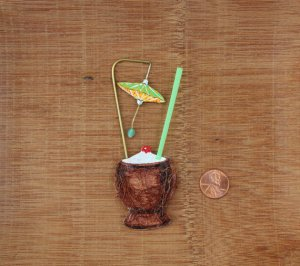 tiki coconut drink